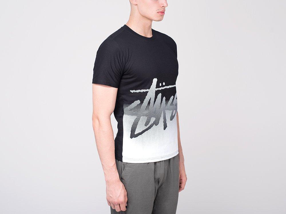футболка мужская рукав по локоть черно белая