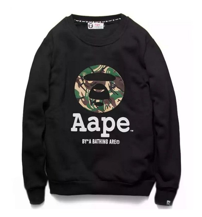 Aape big head logo tee, men's fashion, clothes, tops on carousell